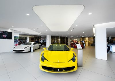 Stretch Ceilings Ltd Car Showroom