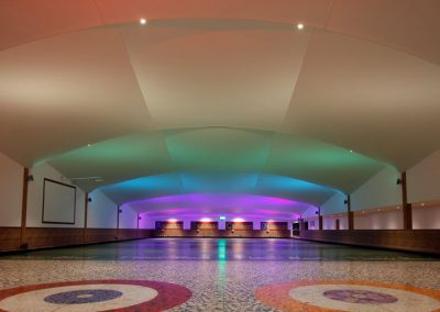 Stretch Ceilings Ltd Curling Rink Installation