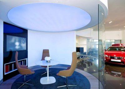 Stretch Ceilings Ltd Car Showroom Lighting