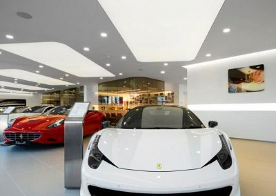Stretch Ceilings Ltd Car Showroom Lighting