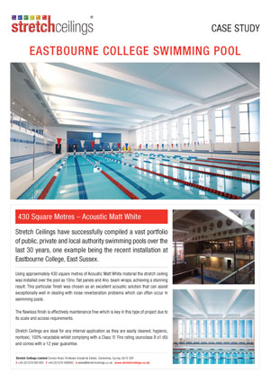 Stretch Ceilings Ltd Eastbourne College Case Study
