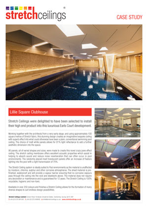 Stretch Ceilings Ltd Lillie Square Clubhouse Case Study