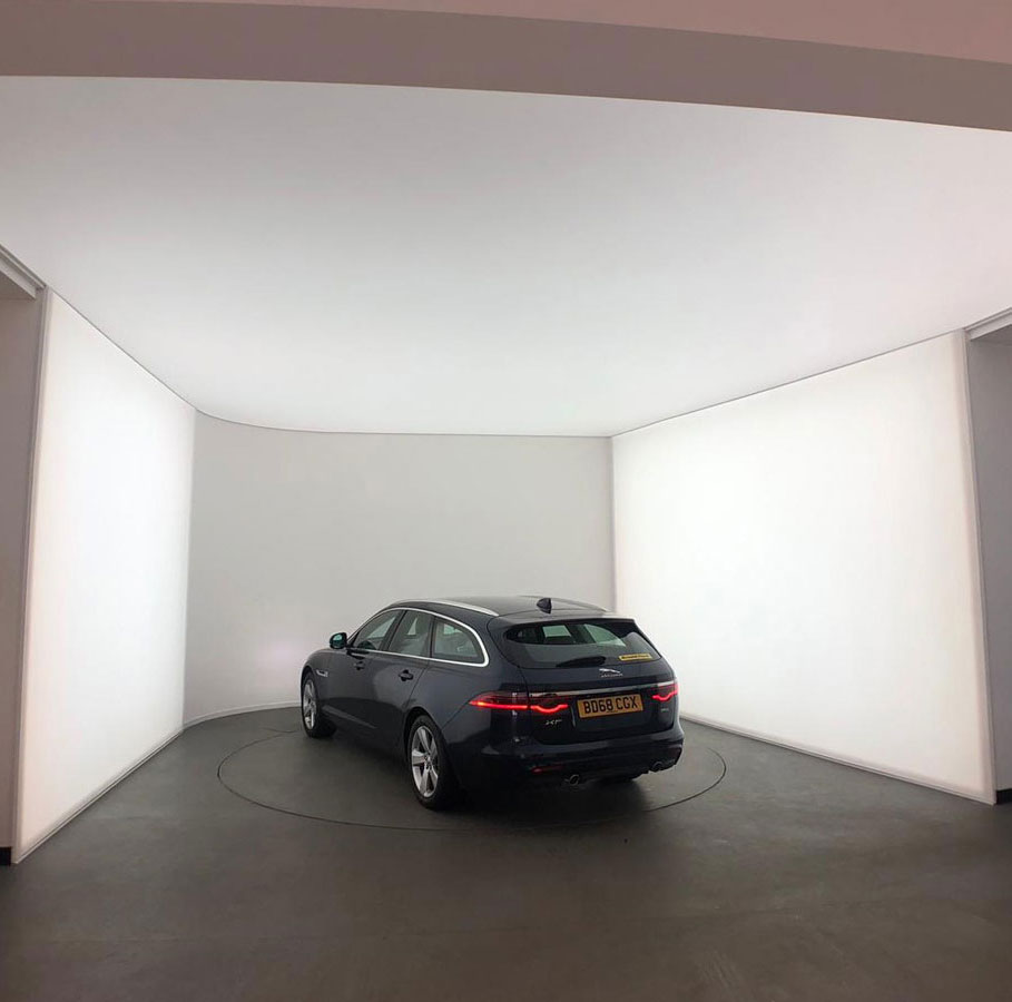 Stretch Ceilings Car Showroom AC Wolverhampton After LED Lighting Installation