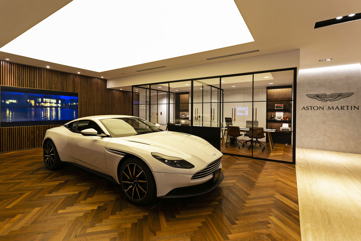 Stretch Ceilings Car Showroom Aston Martin