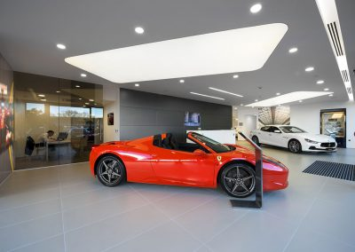 Stretch Ceilings Car Showroom LambhorginiStretch Ceilings Car Showroom Ferrari