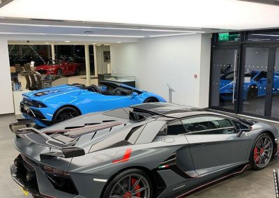 Stretch Ceilings Car Showroom LambhorginiStretch Ceilings Car Showroom Lamborghini